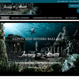 The Saints and Sinners Ball website
